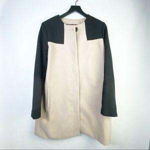 Brooklyn Industries Black and Tan Overcoat